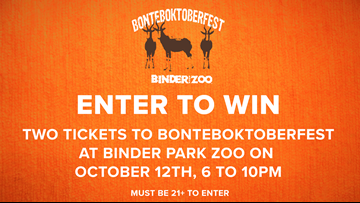 CONTEST COMPLETE - Enter to win tickets to Bonteboktoberfest at Binder Park Zoo!