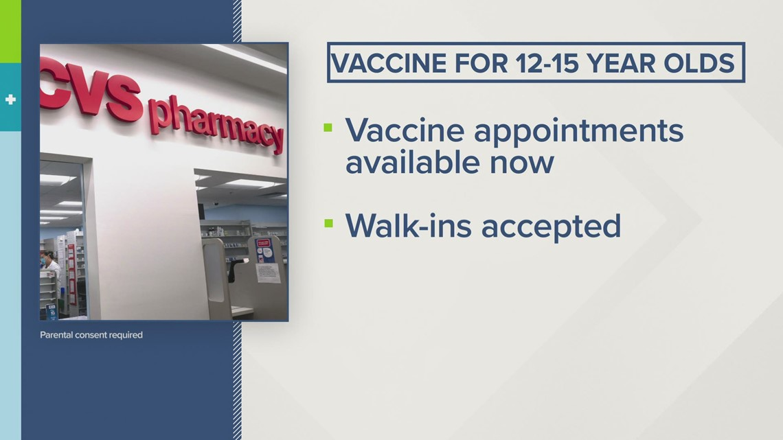 CVS Health to offer COVID-19 vaccine for children 12 to 15