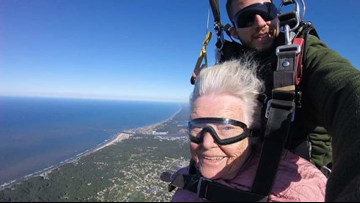 94-year-old Grand Haven woman skydives on her birthday