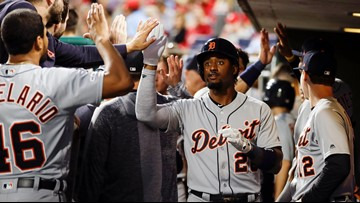 Cabrera, Goodrum help lift Tigers past Phillies 3-1