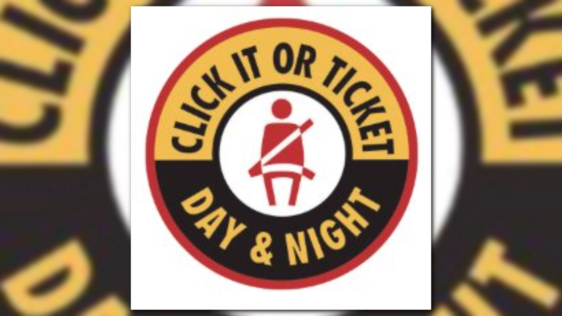 Police to increase seat belt enforcement during statewide 'Click It or Ticket' campaign