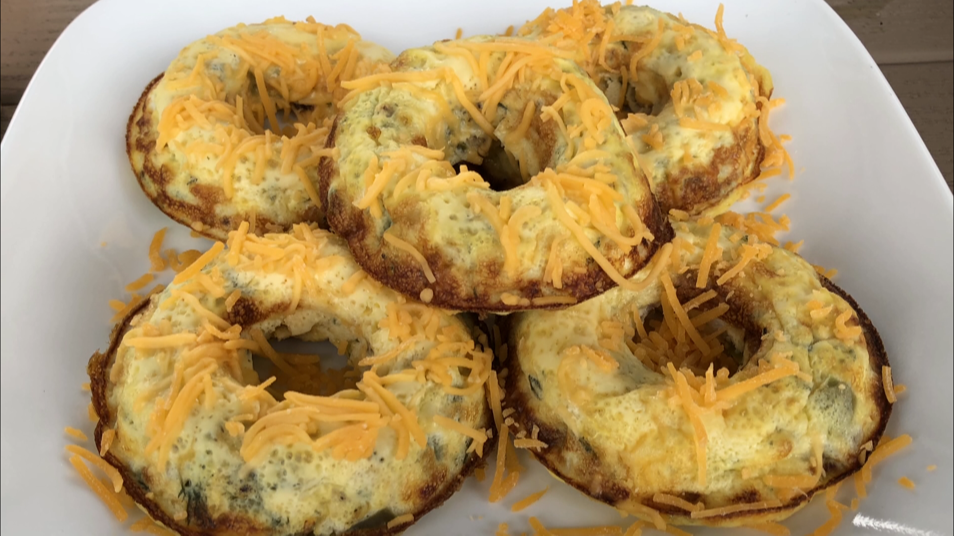 Tasty omelette... donuts Check it out