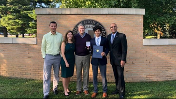 One Good Thing: Jenison student gets Congressional medal