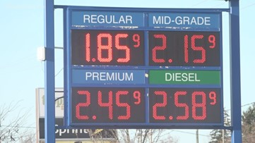 AAA: Gas prices fall another 18 cents