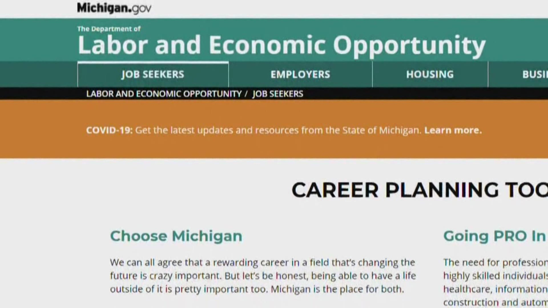 Uia Slammed With Unemployment Claims Website Moving Slow Wzzm13 Com