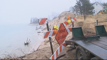 Beach erosion cuts off access to Oceana County cottages