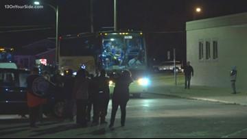 Mona Shores returns home with first state championship