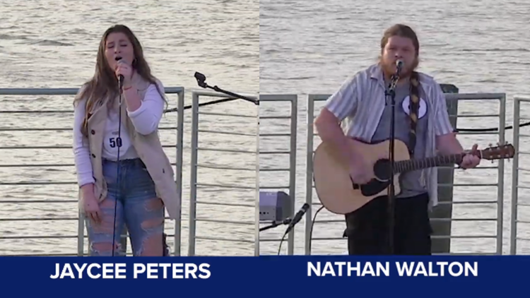 Two local hopefuls from Festival Idol head to the American Idol judges