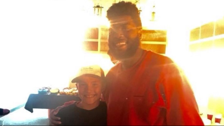 DJ Dill Pickle (left) with singer, songwriter Khalid.