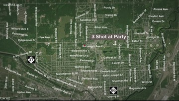 Three people shot at Battle Creek party
