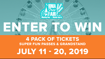 CONTEST COMPLETE: Enter to win tickets to the Ionia Free Fair!