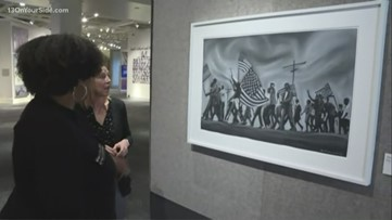 Taking a look at Civil Rights art exhibit at the Ford Museum
