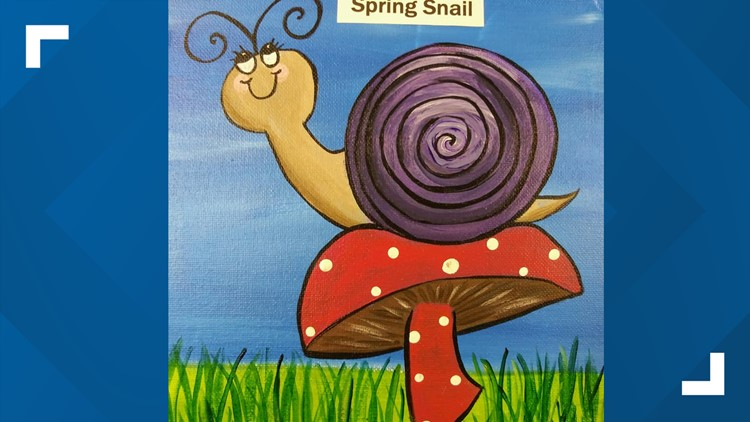 You can paint this 'Spring Snail.'