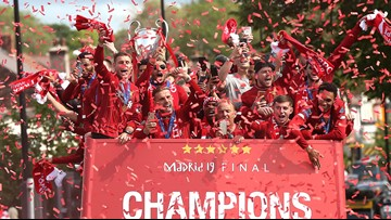 Liverpool celebrates Champions League win with bus parade