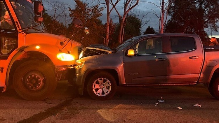 No students hurt after truck driver crashes into Rockford School bus