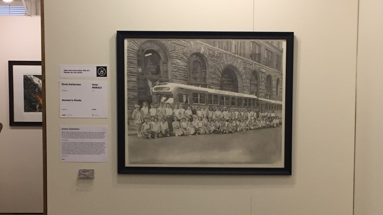 Chris Patterson sketched the photo and entered his interpretation into ArtPrize 10.