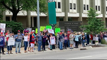'Squash Amash' rally in Grand Rapids