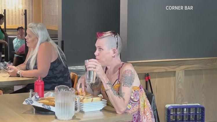 Woman shatters hot dog eating record at Rockford Corner Bar