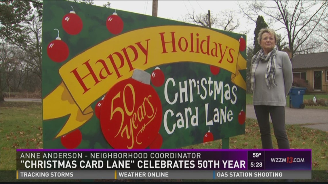Kalamazoo S Christmas Card Lane Celebrates 50th Year Wzzm13 Com