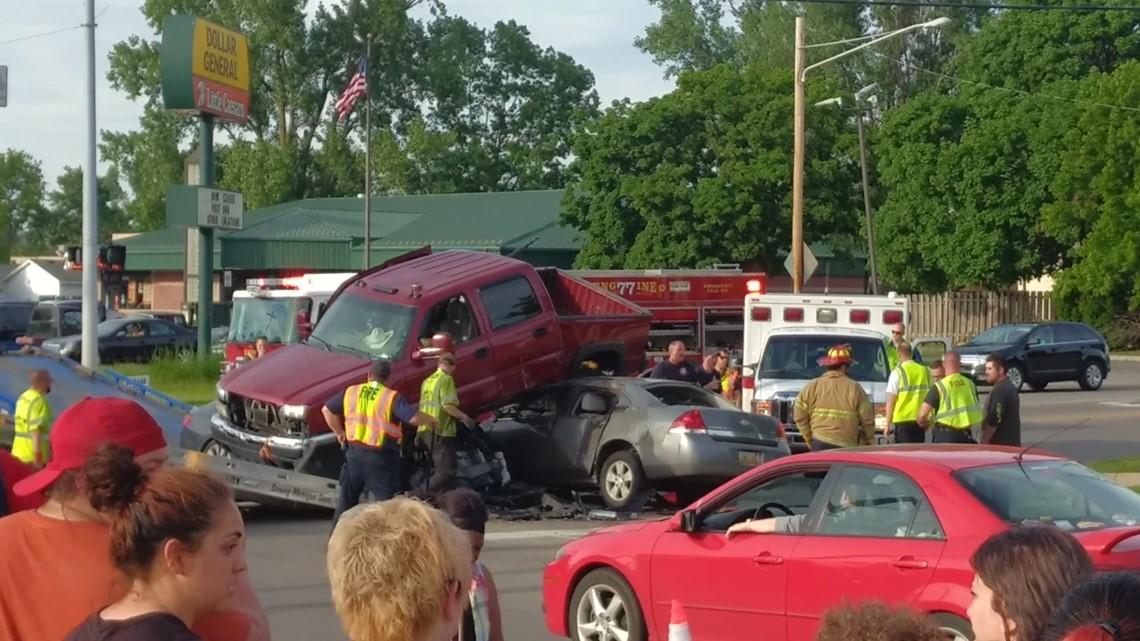 Three car crash in Wyoming