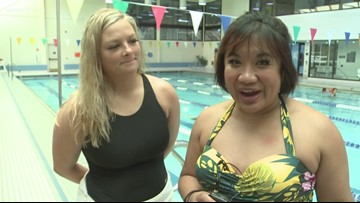 Jennifer completes her learn-to-swim adult lessons at MVP Holland
