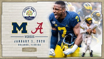 Michigan to play Alabama in Citrus Bowl on New Year's Day