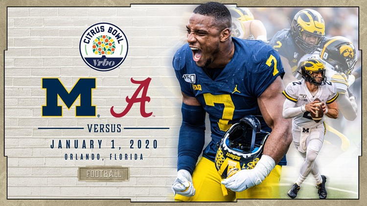 Michigan to play Alabama in Citrus Bowl on New Year's Day ...
