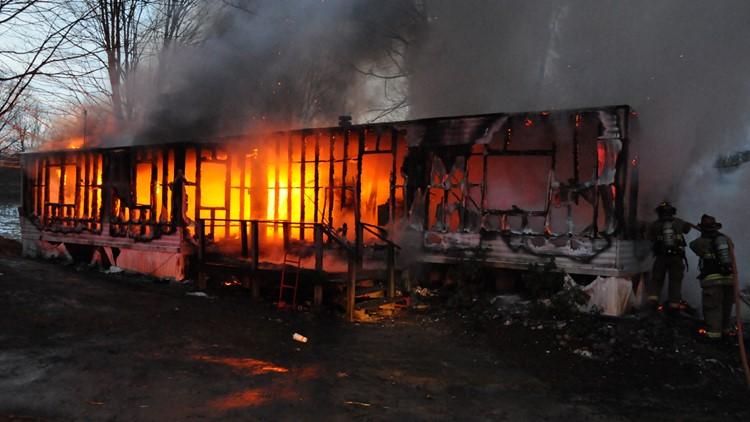 van buren county mobile home fire