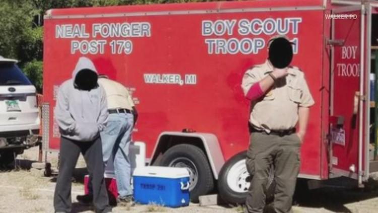 Walker police look for stolen Boy Scout trailer