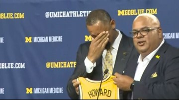 Howard sheds tears of joy as he takes the reins at Michigan