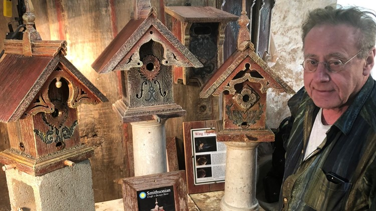 'I'm hip-deep in sawdust': Man's conservation statement is crafting birdhouses from barn wood