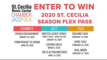 CONTEST COMPLETE - Enter to win a 2020 St. Cecilia Music Center Flex Pass