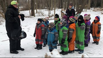 It's a 'Snow Day' every day at Forest Kindergarten in the winter
