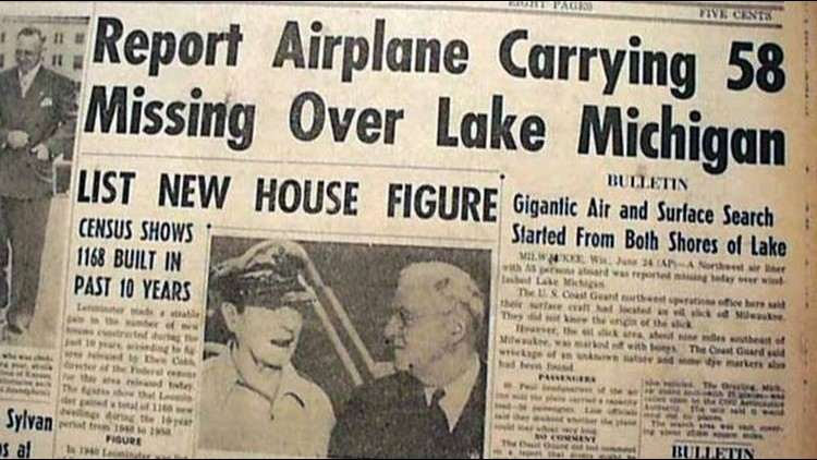 Newspaper articles hit the news stands soon after NWA Flight 2501 went missing.