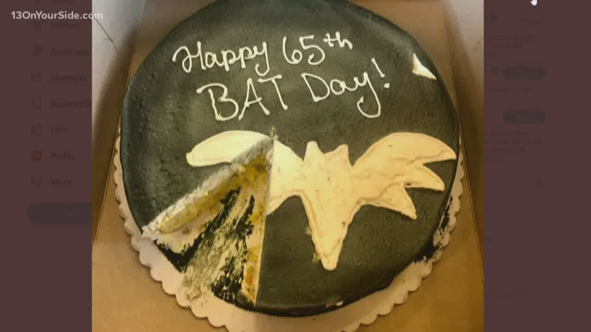 Enjoyable Whitmer Sends Shirkey A Bat Day Cake After His Comments Wzzm13 Com Funny Birthday Cards Online Inifofree Goldxyz