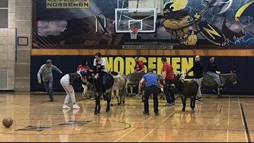 Donkey basketball game benefits The Hope Project