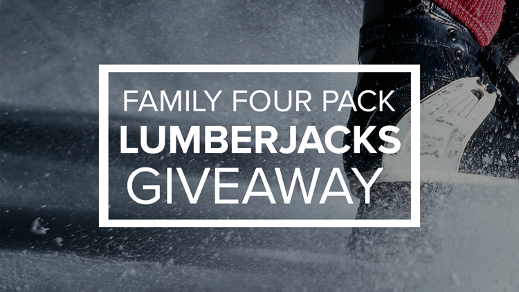 Enter to win four tickets to the Lumberjacks on February 7th!