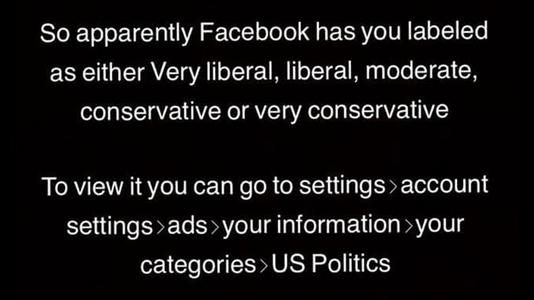 Verify: Does Facebook categorize you based on your political views