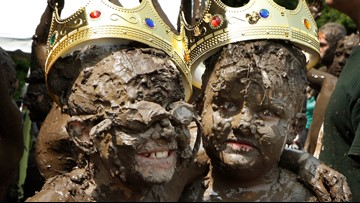 Mudded majesty: Kids made merry amid Detroit-area park's mud