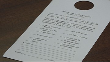 Crime warning slips given out in Ottawa County