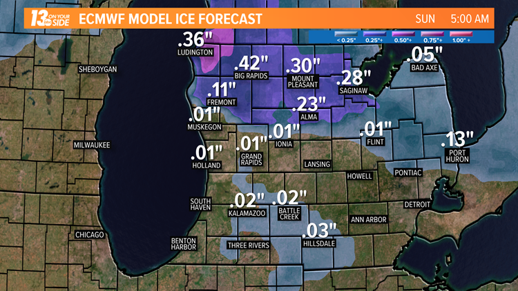 Several hours of freezing rain possible