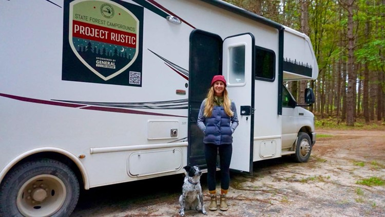 1 RV, 5 months & 78 stops: Michigan backcountry camping improves thanks to woman's odyssey