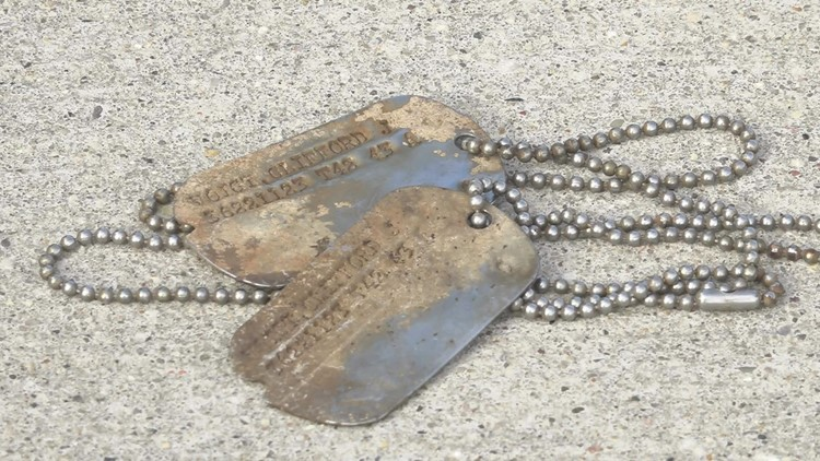 HISTORIC CATCH: Magnet fisherman makes WWII dog tags his 'catch of the day'