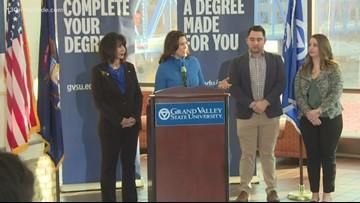 Whitmer, GVSU unveil higher education program for working adults