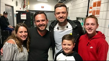 It happened! Ionia cancer survivor meets Justin Timberlake