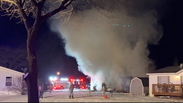 One injured in Spring Lake mobile home explosion and fire