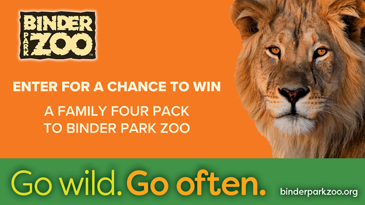 CONTEST ENDED: Enter for a chance to win family four pack to Binder Park Zoo