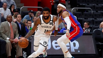 Kyrie Irving scores 45 points, Nets beat Pistons in OT