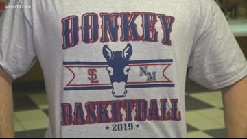 Riding donkeys and playing basketball for a good cause