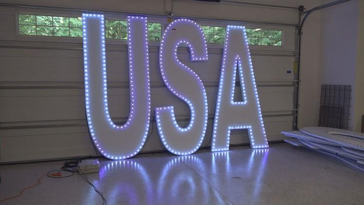 New 'Coast Guard City USA' letters for Grand Haven Festival: Bigger, lighter, more LED lights